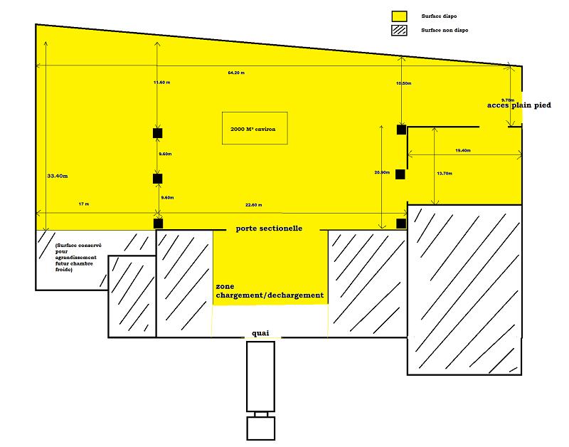 Entrepôt à louer - 2000.0 m2 - 45 - Loiret